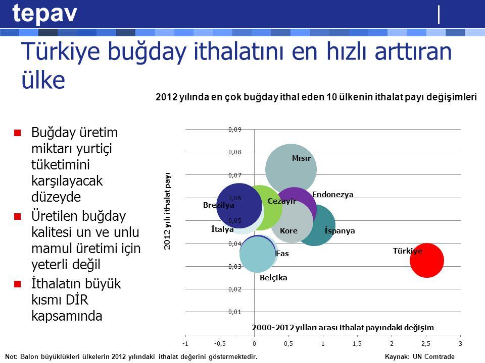 Türkiye buğday ithalatını en hızlı arttıran ülke