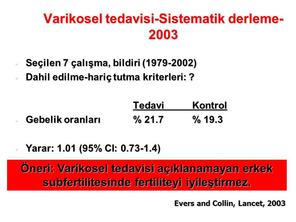 Varikosel tedavisi-Sistematik derleme-2003