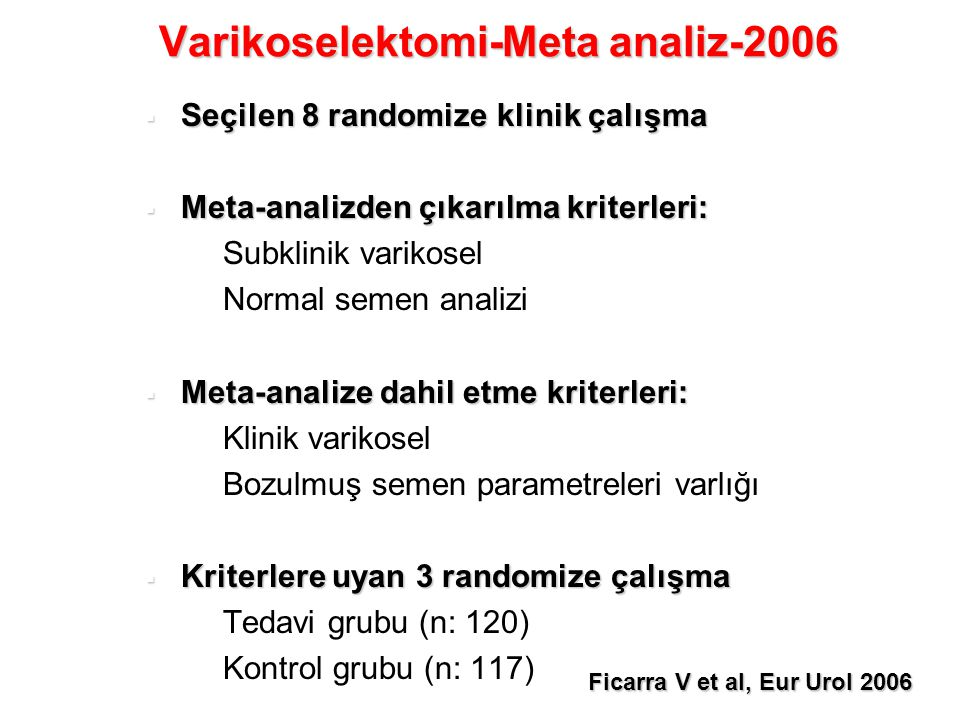 Varikoselektomi-Meta analiz-2006