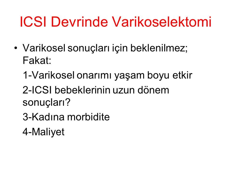 ICSI Devrinde Varikoselektomi