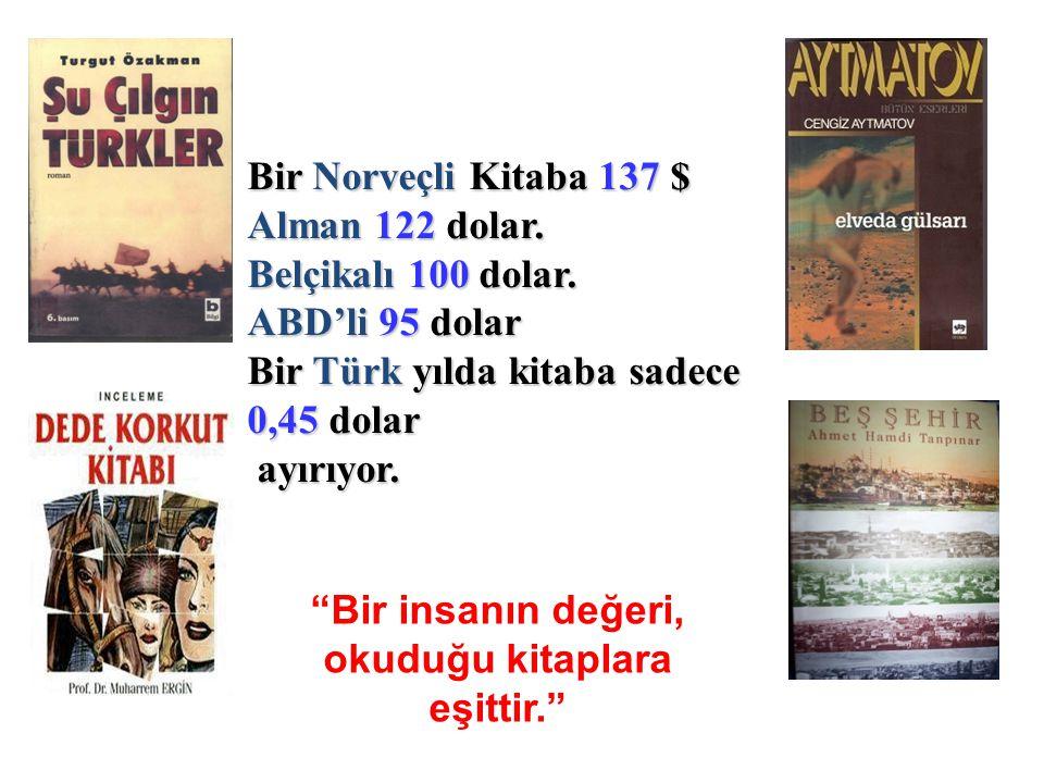 Bir insanın değeri, okuduğu kitaplara eşittir.