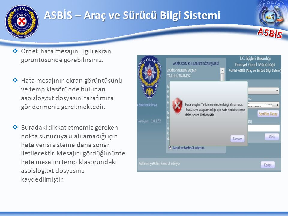 ASBİS – Araç ve Sürücü Bilgi Sistemi