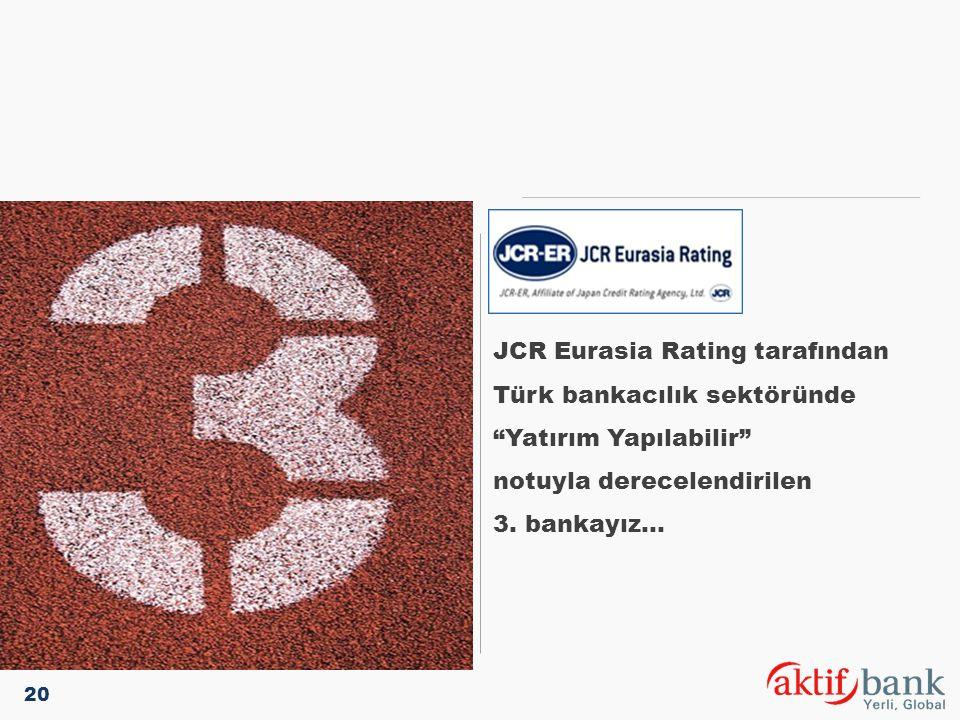JCR Eurasia Rating tarafından Türk bankacılık sektöründe
