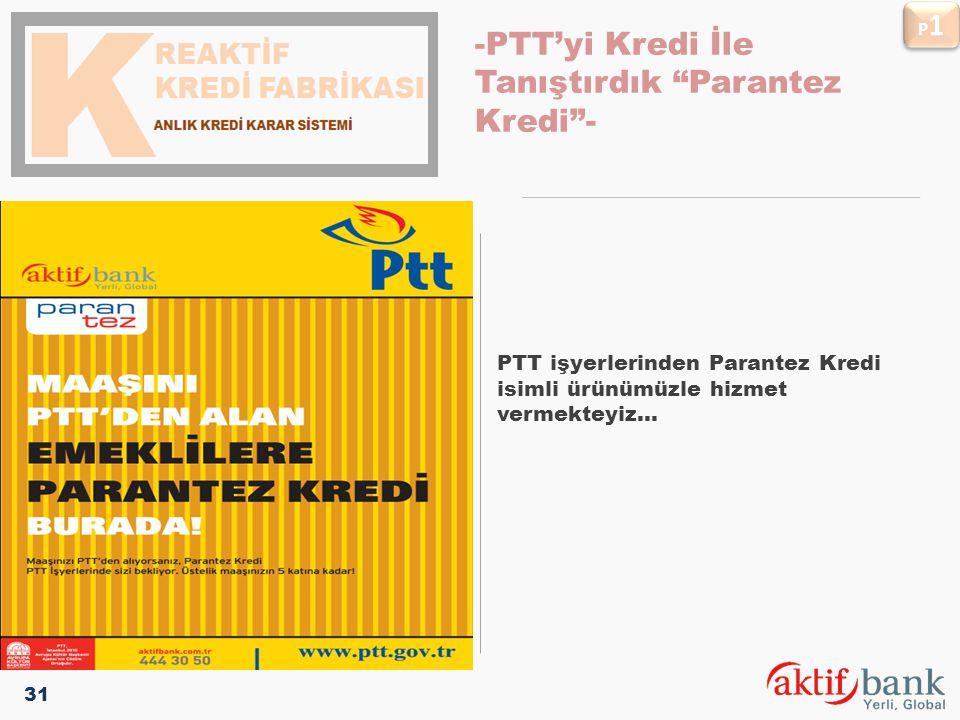-PTT'yi Kredi İle Tanıştırdık Parantez Kredi -