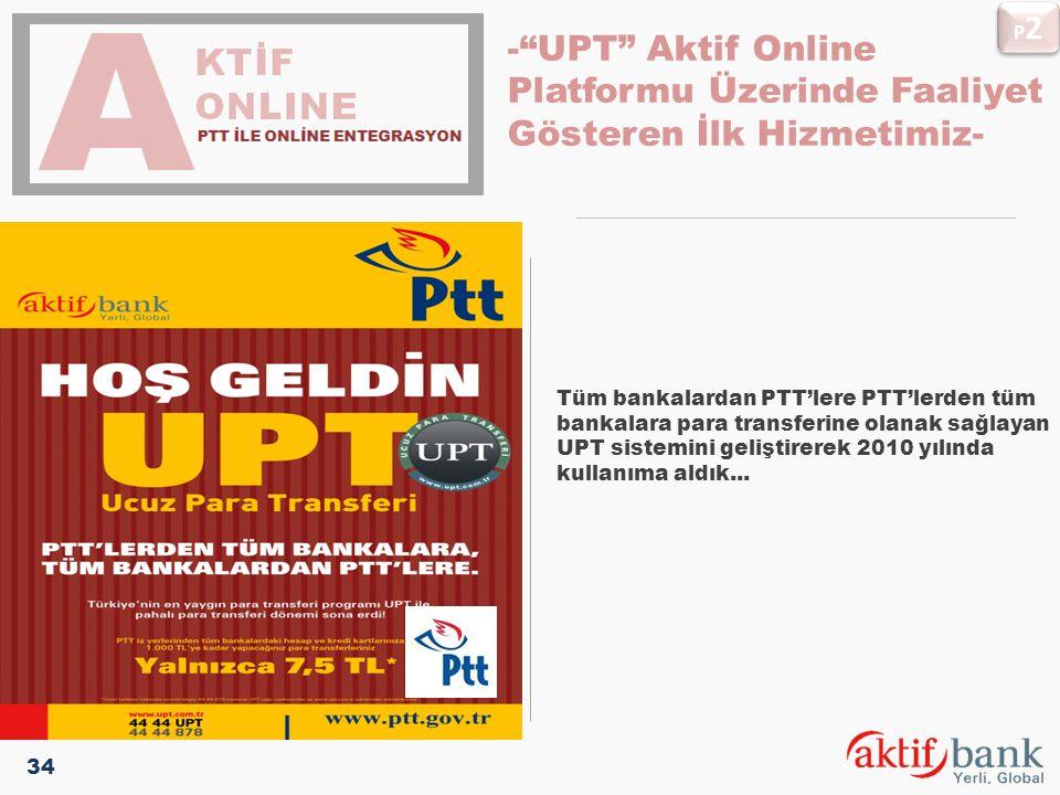 P2 pLATFORMLARIMIZ. - UPT Aktif Online Platformu Üzerinde Faaliyet Gösteren İlk Hizmetimiz-