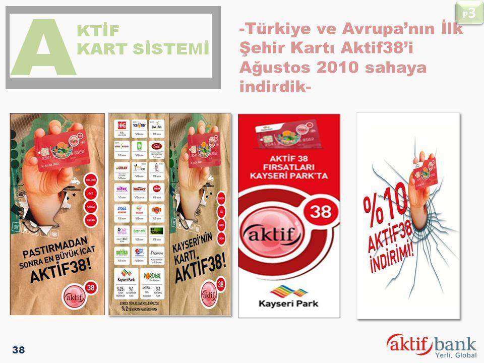 P3 -Türkiye ve Avrupa'nın İlk Şehir Kartı Aktif38'i Ağustos 2010 sahaya indirdik- 38