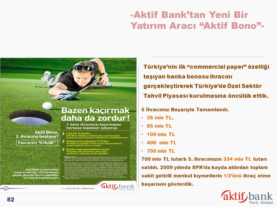 -Aktif Bank'tan Yeni Bir Yatırım Aracı Aktif Bono -