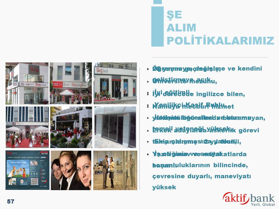 İ ŞE ALIM POLİTİKALARIMIZ