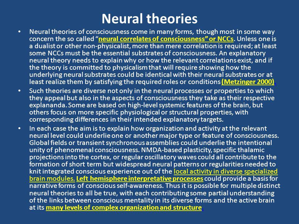 Neural theories