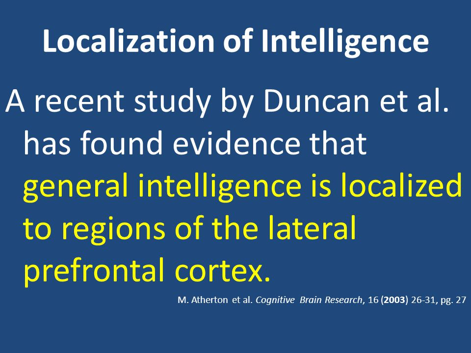 Localization of Intelligence