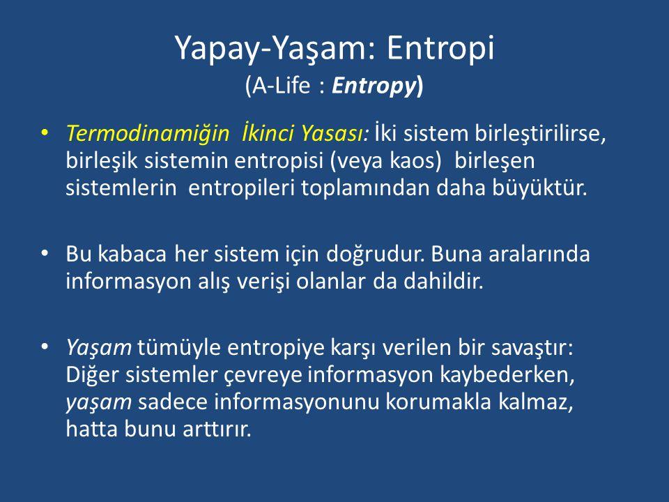 Yapay-Yaşam: Entropi (A-Life : Entropy)