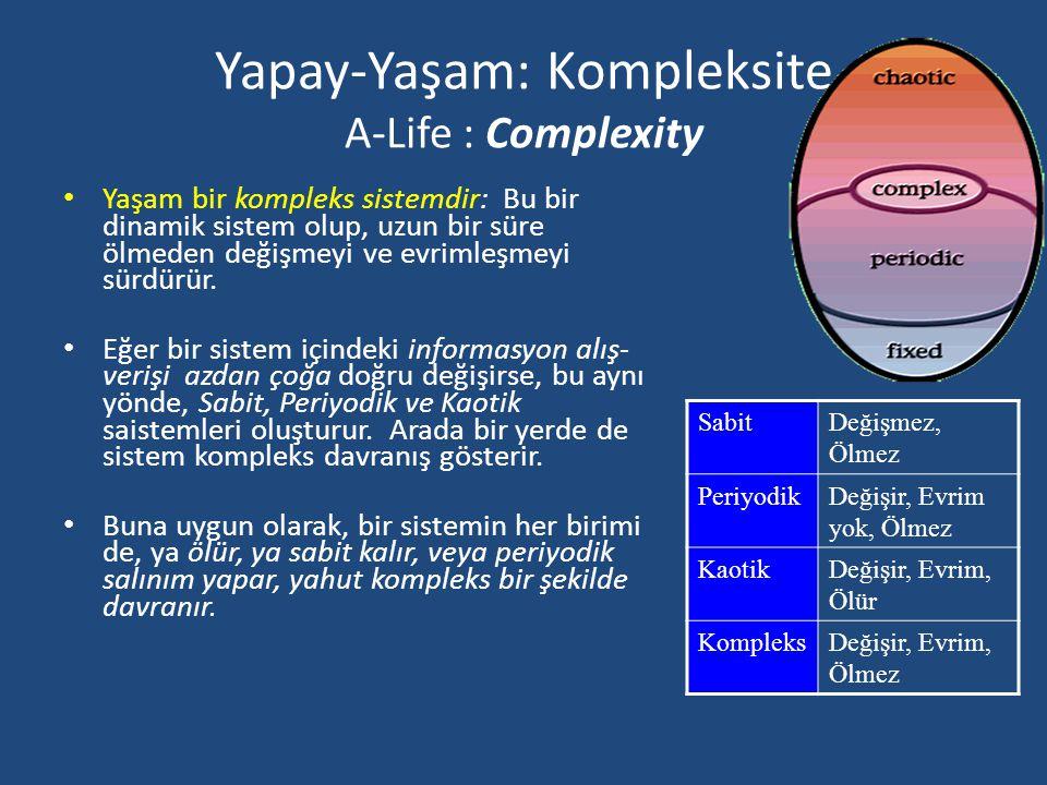 Yapay-Yaşam: Kompleksite A-Life : Complexity