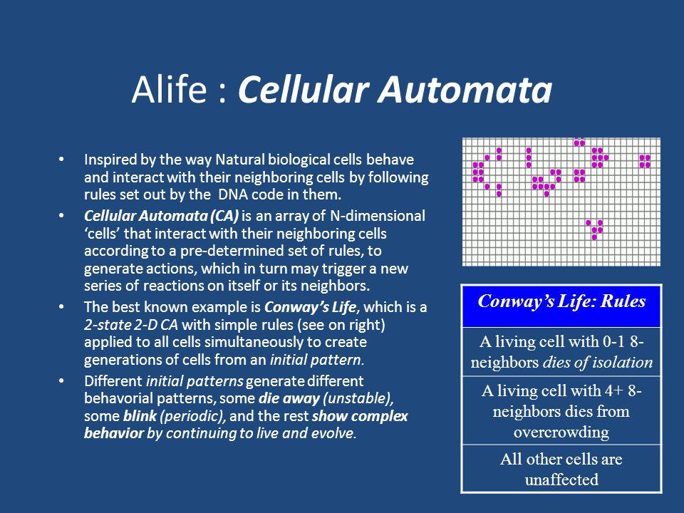 Alife : Cellular Automata