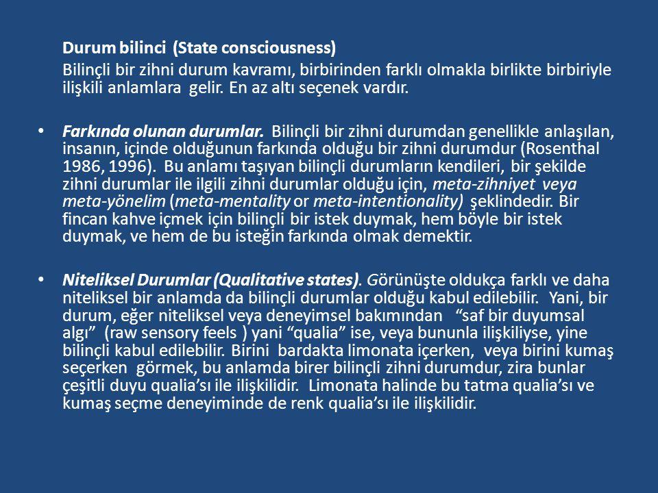 Durum bilinci (State consciousness)