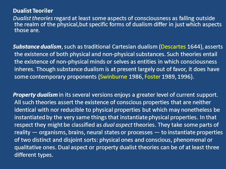 Dualist Teoriler