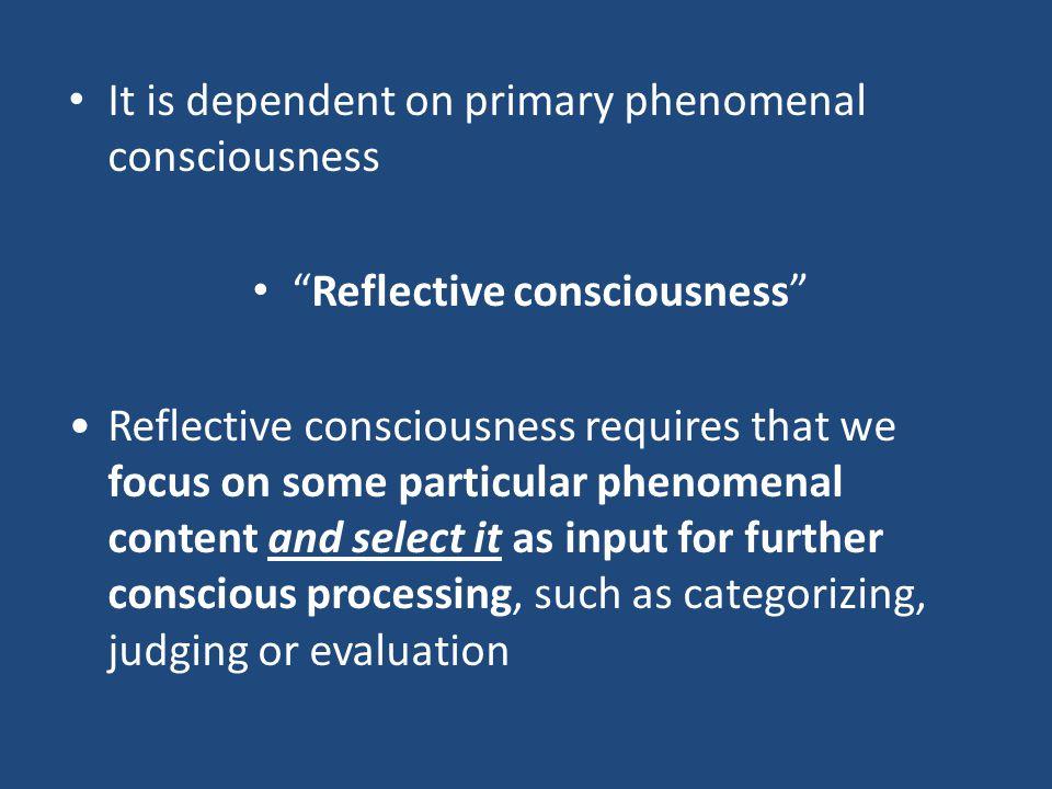 Reflective consciousness