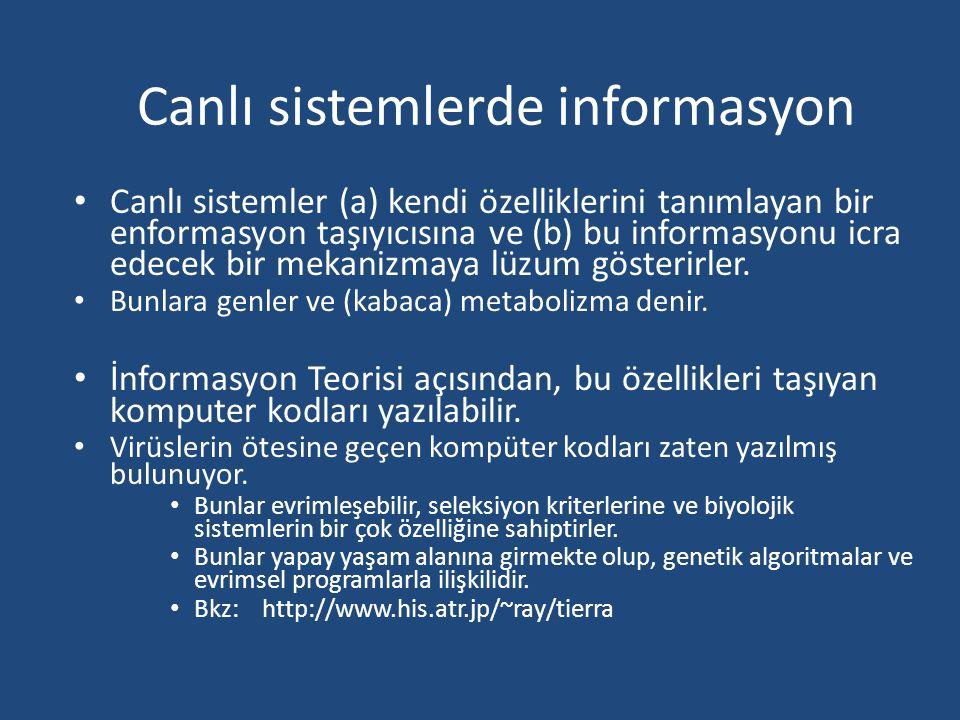 Canlı sistemlerde informasyon