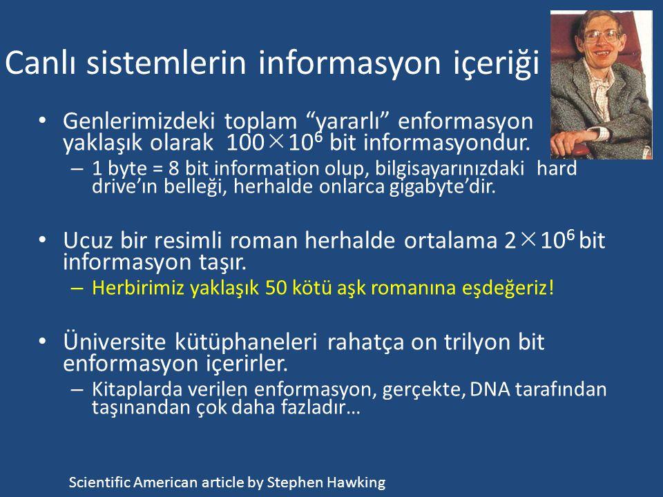 Canlı sistemlerin informasyon içeriği