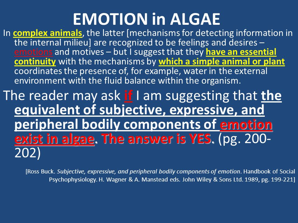 EMOTION in ALGAE