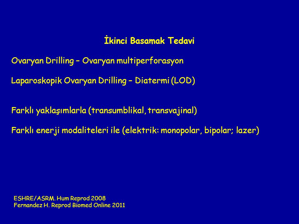 Ovaryan Drilling – Ovaryan multiperforasyon