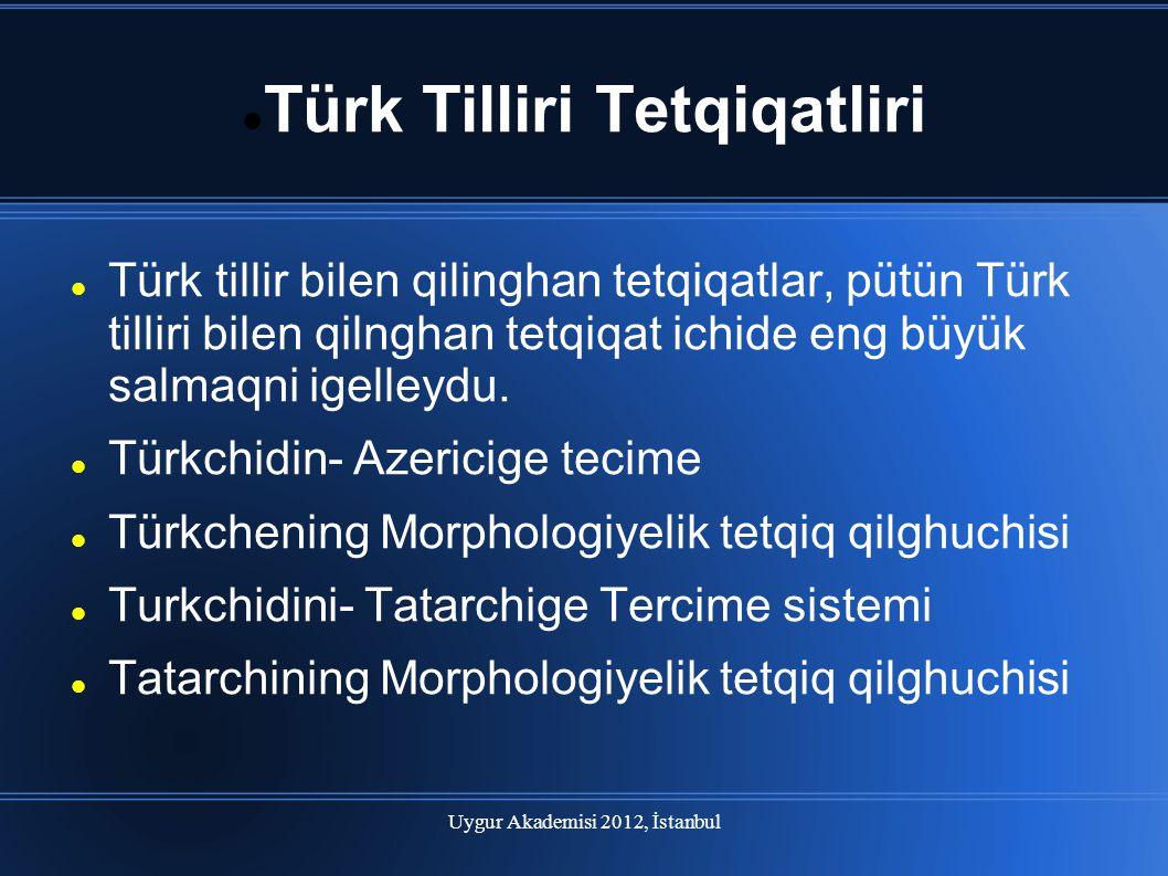 Türk Tilliri Tetqiqatliri