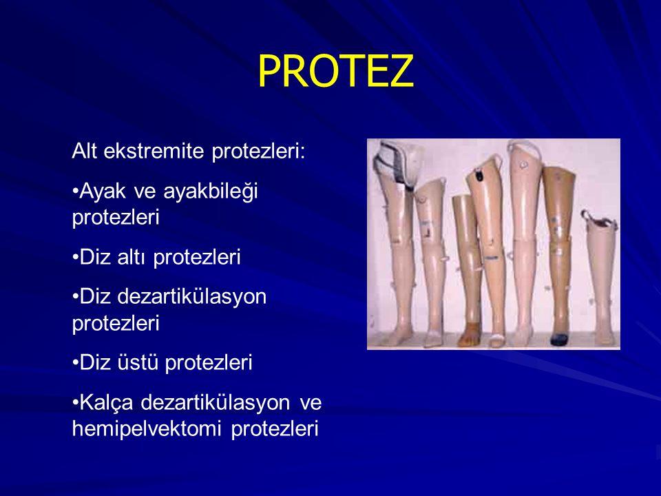 PROTEZ Alt ekstremite protezleri: Ayak ve ayakbileği protezleri