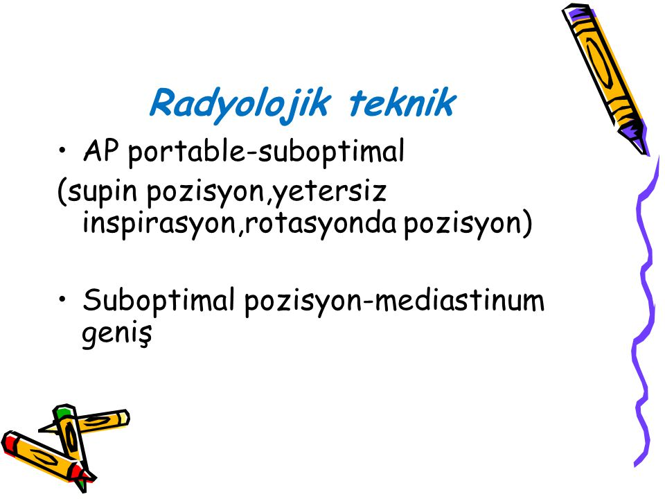 Radyolojik teknik AP portable-suboptimal