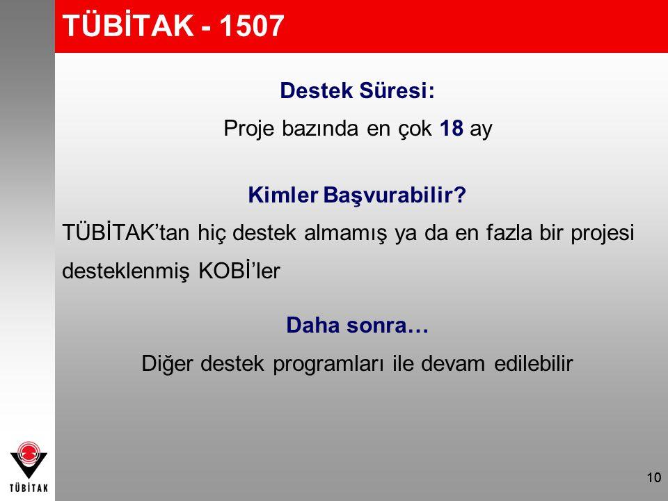 TÜBİTAK - 1507