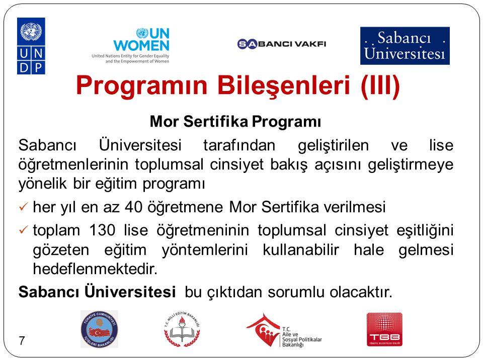 Programın Bileşenleri (III)