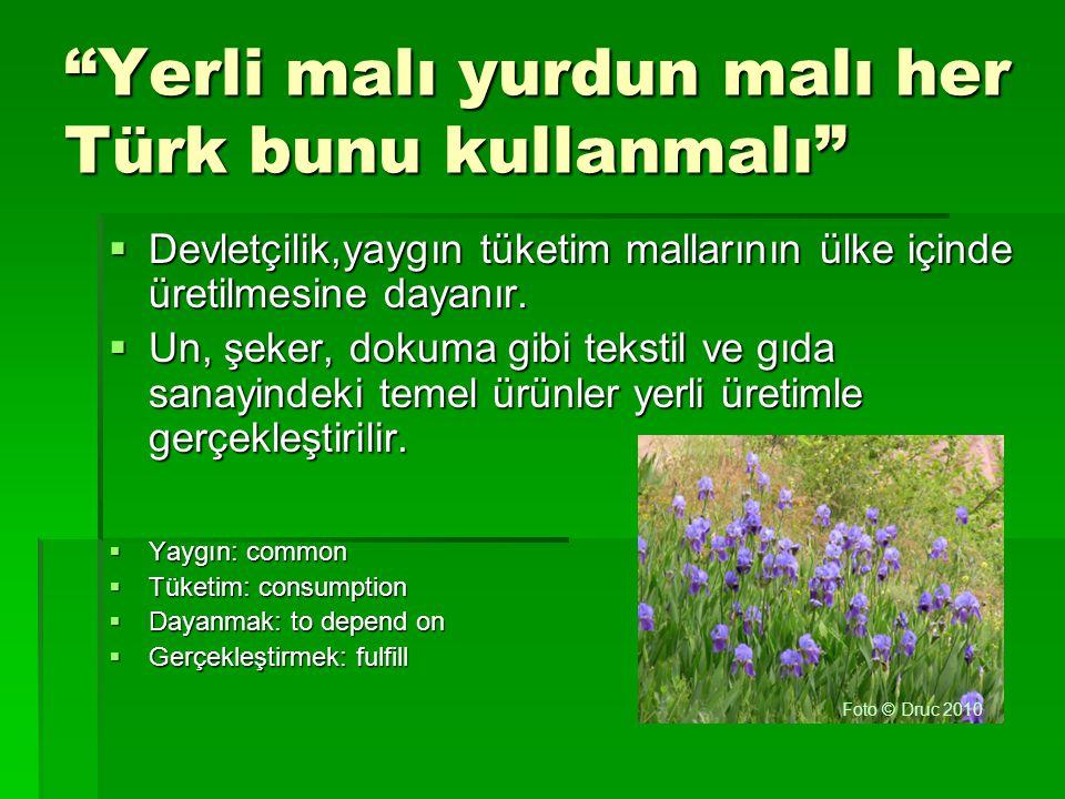 Yerli malı yurdun malı her Türk bunu kullanmalı