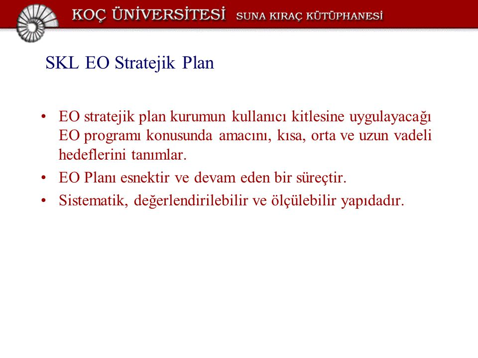 SKL EO Stratejik Plan