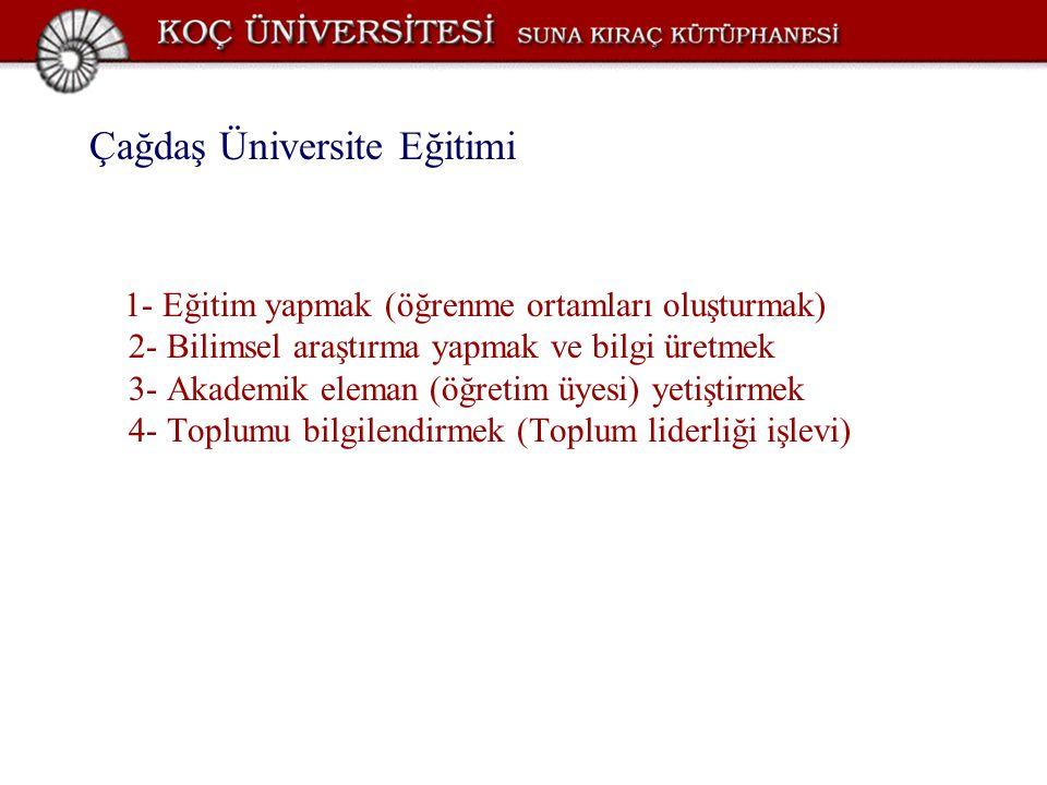 Çağdaş Üniversite Eğitimi