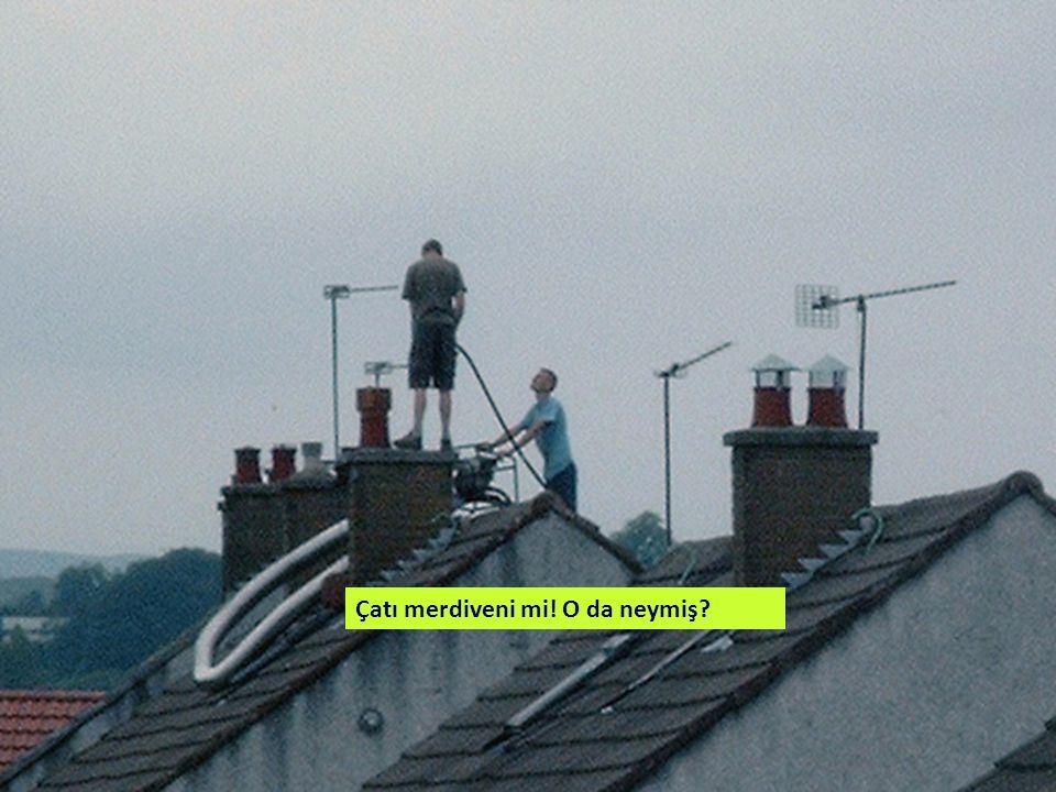 Çatı merdiveni mi! O da neymiş