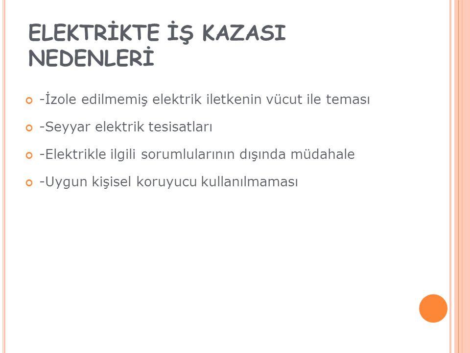 ELEKTRİKTE İŞ KAZASI NEDENLERİ