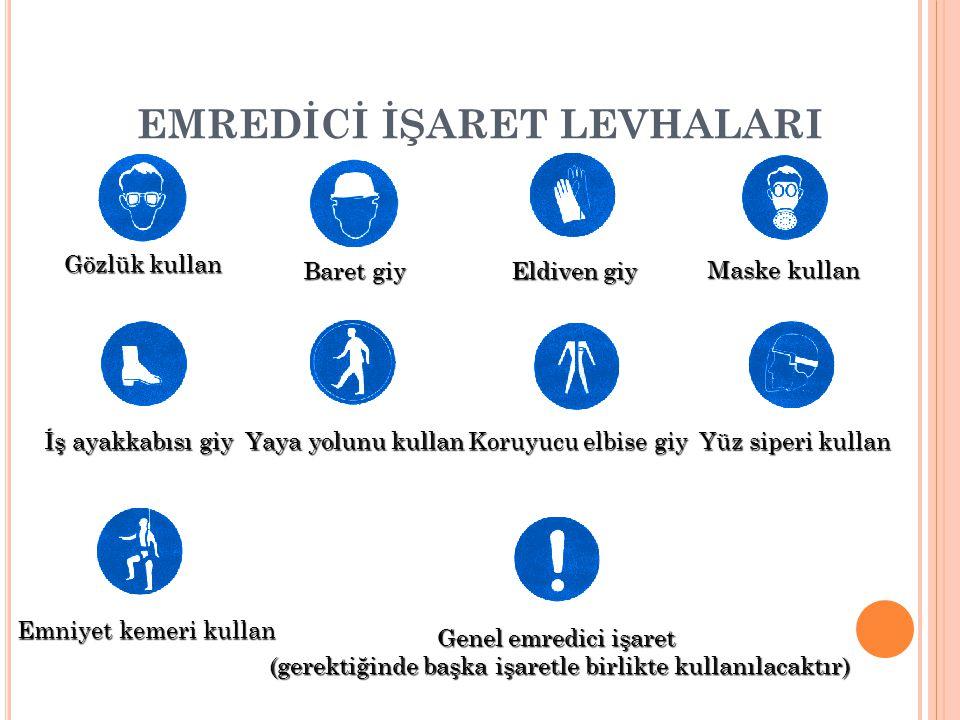 EMREDİCİ İŞARET LEVHALARI