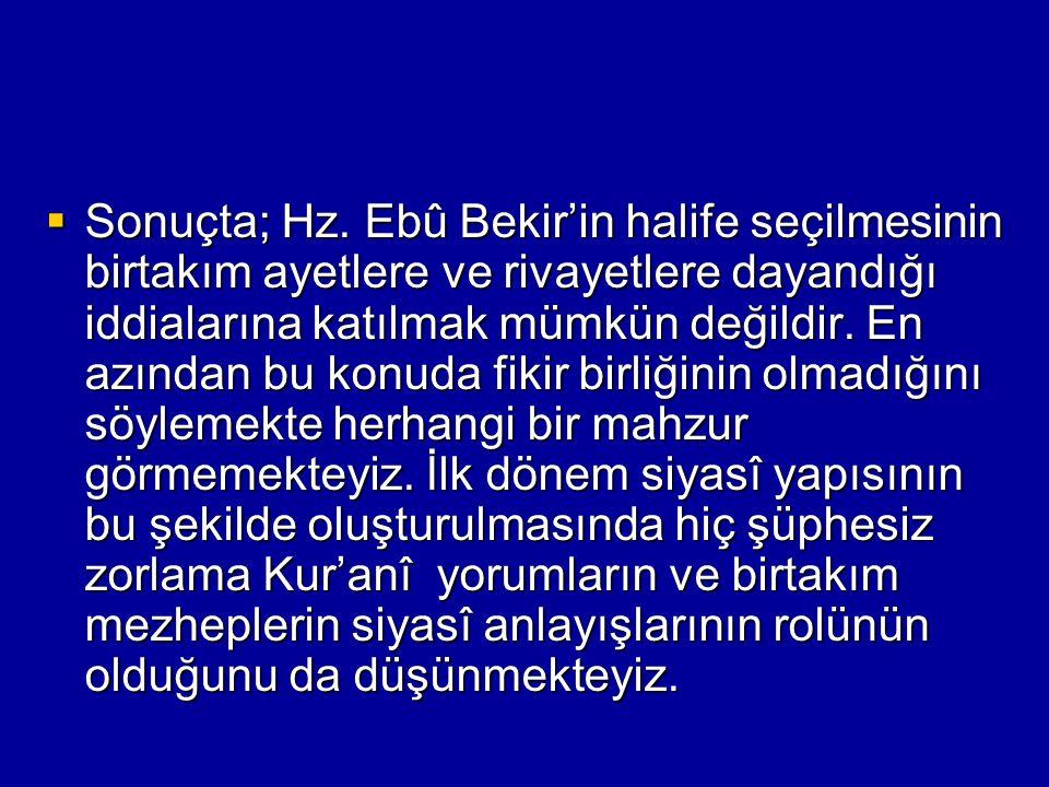 Sonuçta; Hz.