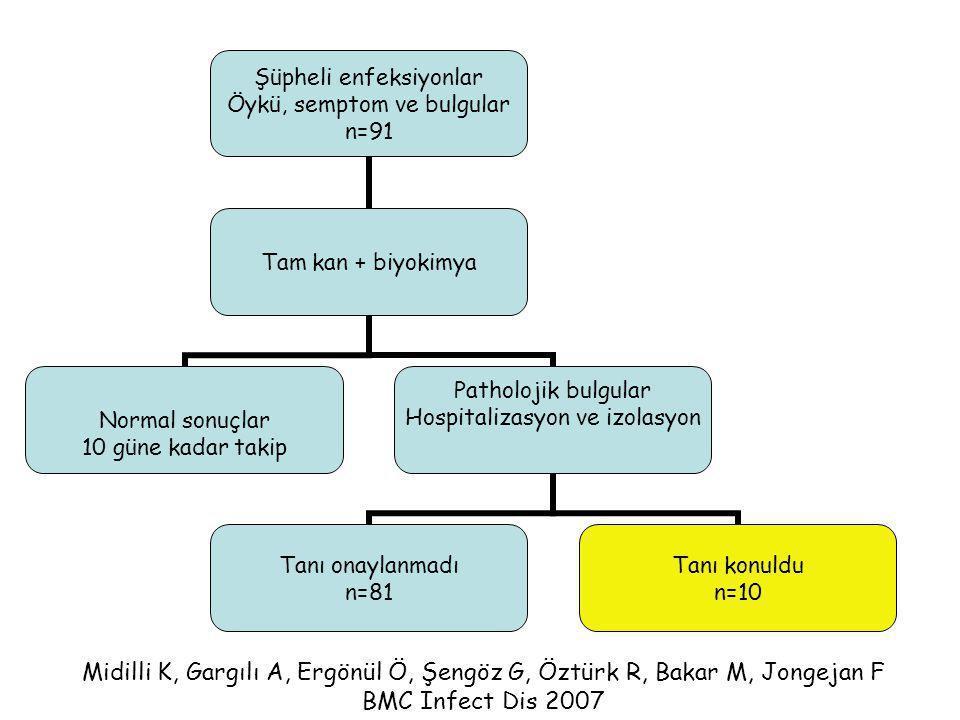 Midilli K, Gargılı A, Ergönül Ö, Şengöz G, Öztürk R, Bakar M, Jongejan F