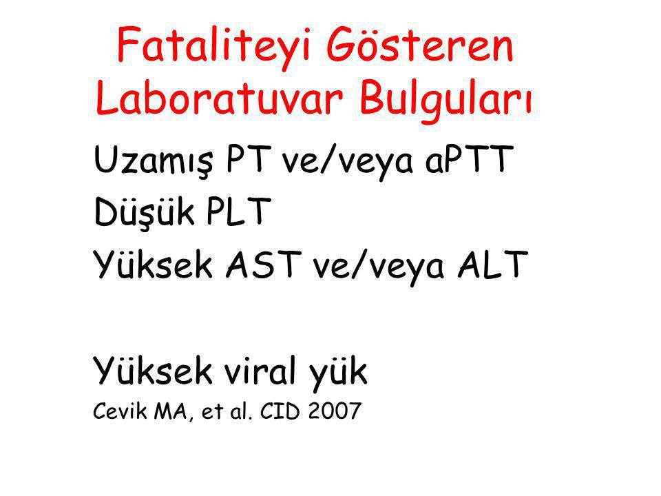 Fataliteyi Gösteren Laboratuvar Bulguları