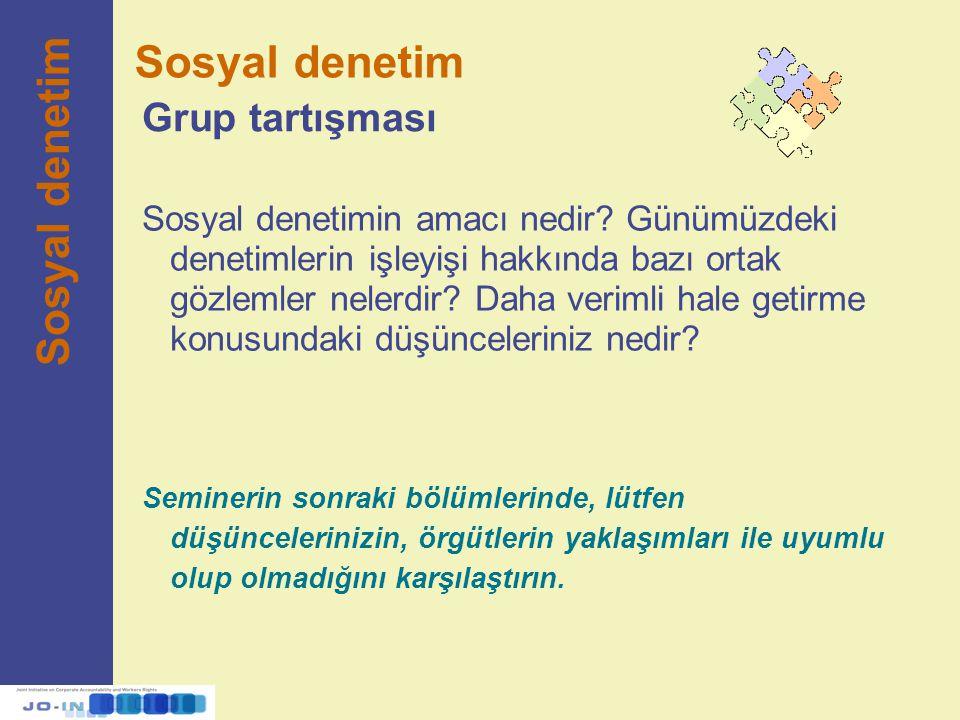 Sosyal denetim Sosyal denetim Grup tartışması