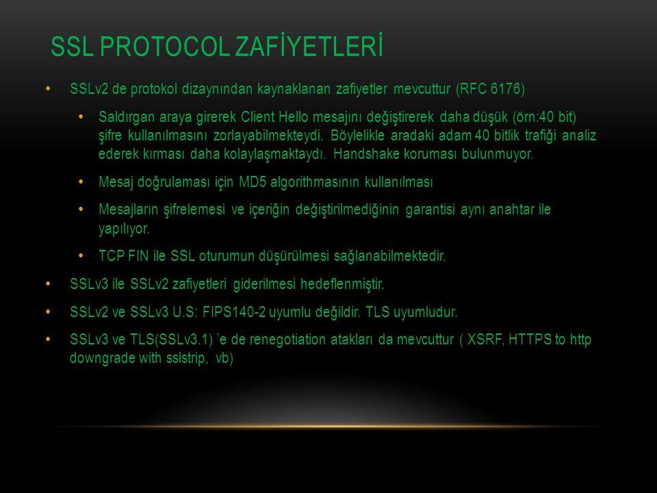 SSL PROTOCOL ZAFİYETLERİ