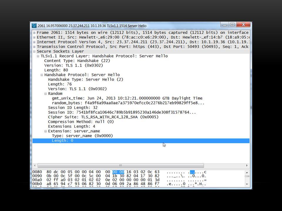 Sunucular genelde bir tane default cipher suiteleri vardır