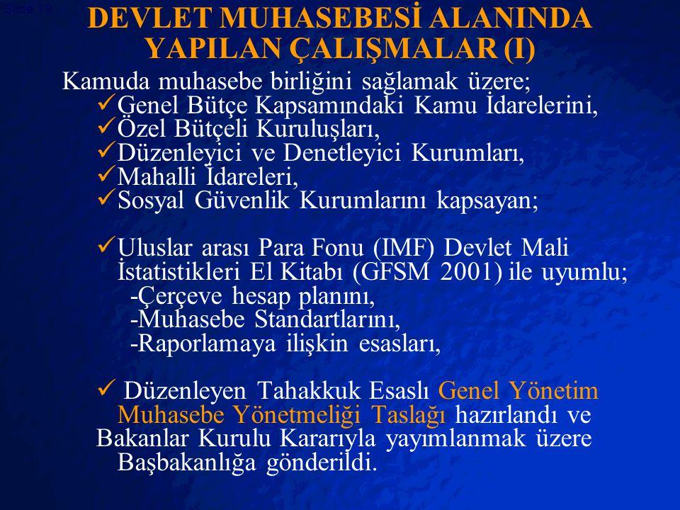 DEVLET MUHASEBESİ ALANINDA YAPILAN ÇALIŞMALAR (I)