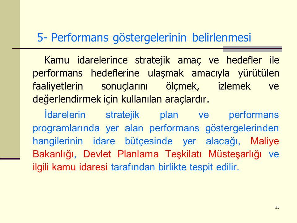 5- Performans göstergelerinin belirlenmesi