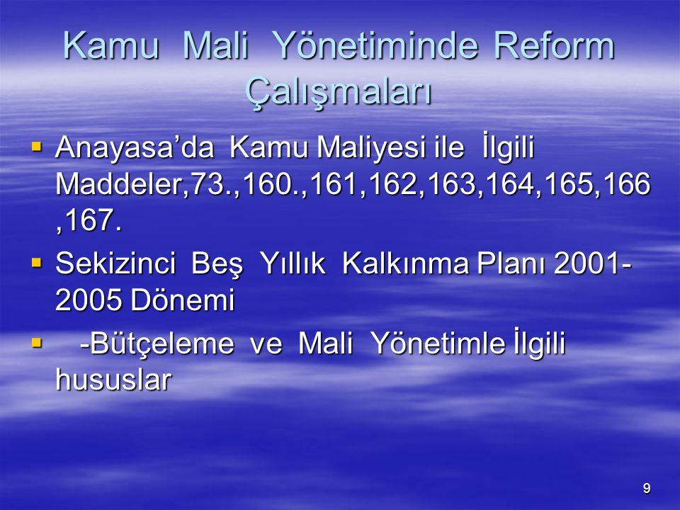 Kamu Mali Yönetiminde Reform Çalışmaları