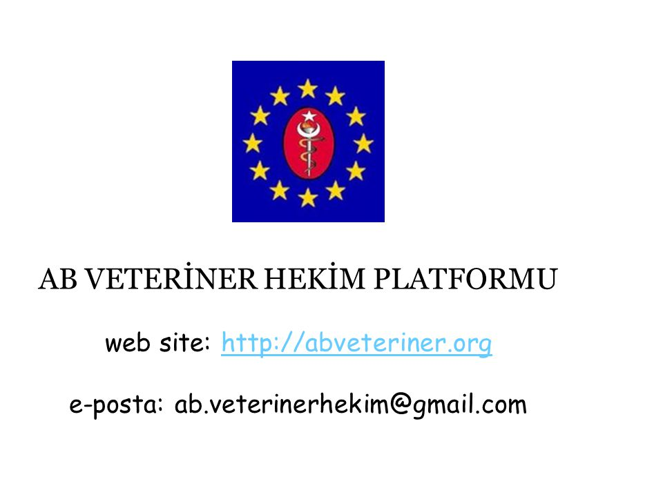 AB VETERİNER HEKİM PLATFORMU web site: http://abveteriner