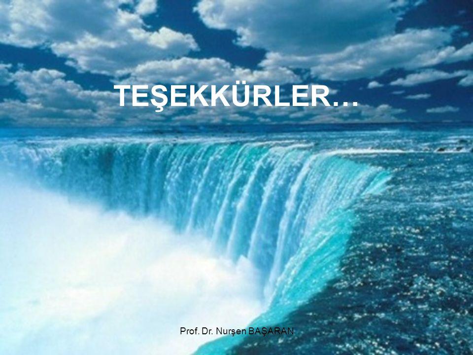 TEŞEKKÜRLER… Prof. Dr. Nurşen BAŞARAN