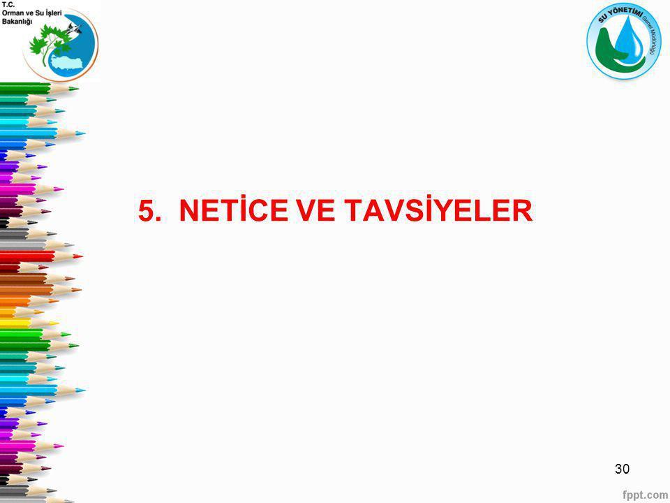 5. NETİCE VE TAVSİYELER