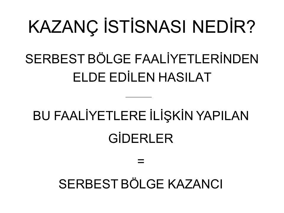 KAZANÇ İSTİSNASI NEDİR