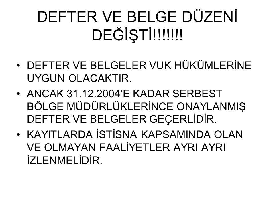 DEFTER VE BELGE DÜZENİ DEĞİŞTİ!!!!!!!