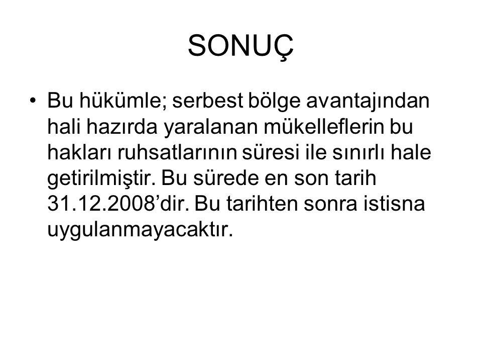 SONUÇ